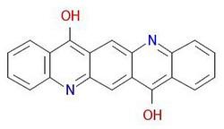 रंगद्रव्य-बैंगनी-१--आणविक संरचना